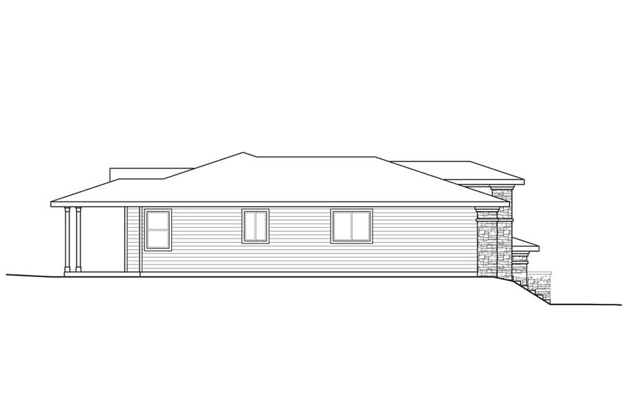 Home Plan Left Elevation of this 2-Bedroom,1758 Sq Ft Plan -108-1930