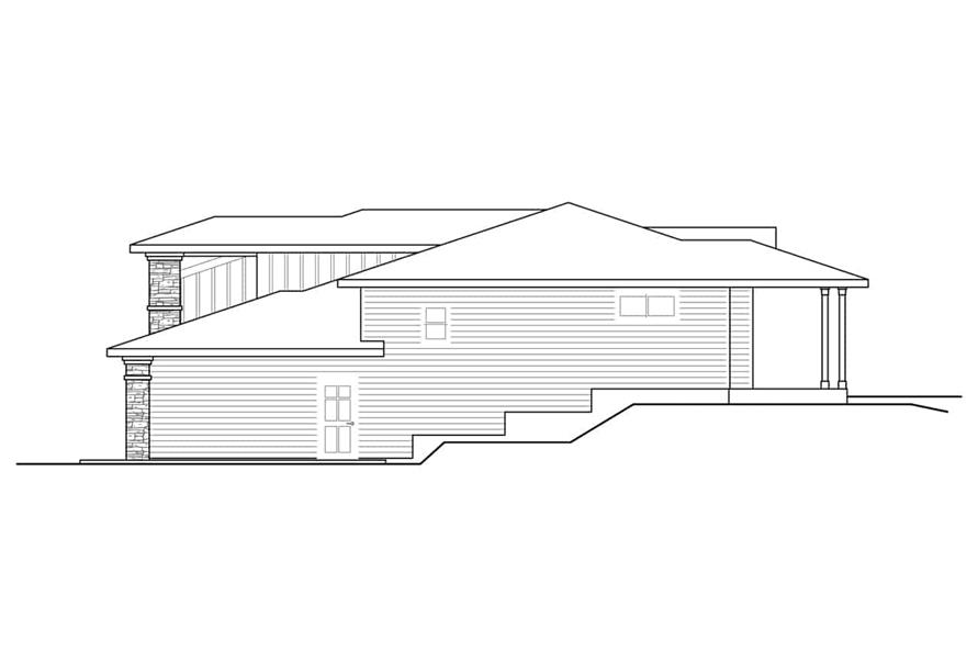 Home Plan Right Elevation of this 2-Bedroom,1758 Sq Ft Plan -108-1930