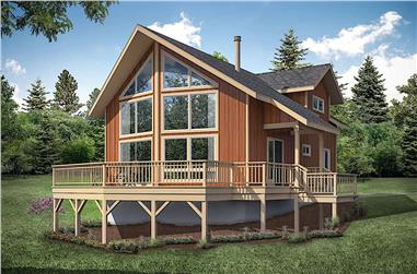 2-Bedroom, 1509 Sq Ft Contemporary Home - Plan #108-1932 - Main Exterior