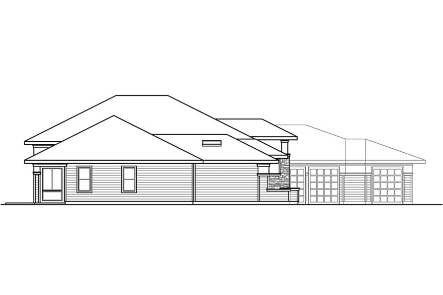 Home Plan Left Elevation of this 3-Bedroom,3622 Sq Ft Plan -108-1934