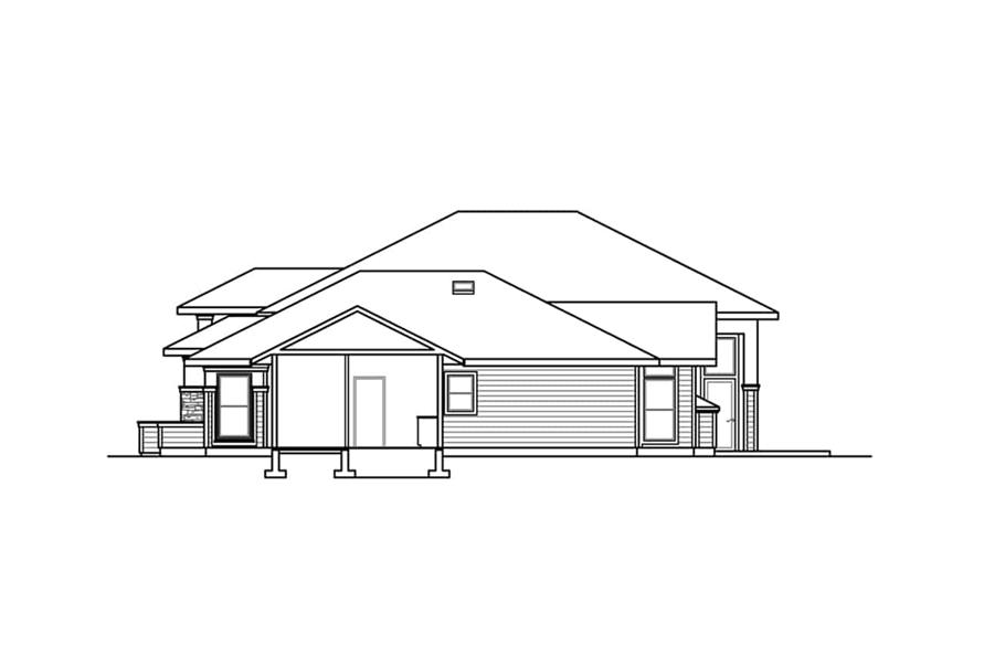 Home Plan Right Elevation of this 3-Bedroom,3622 Sq Ft Plan -108-1934