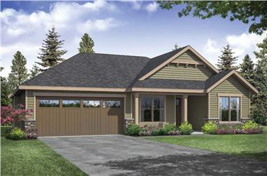 3-Bedroom, 1610 Sq Ft Ranch Home Plan - 108-1935 - Main Exterior