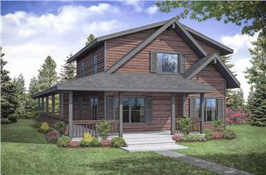 3-Bedroom, 2060 Sq Ft Farmhouse House Plan - 108-1937 - Front Exterior