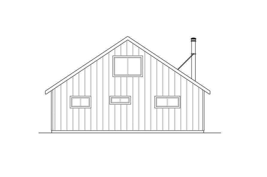 Home Plan Rear Elevation of this 2-Bedroom,1706 Sq Ft Plan -108-1938