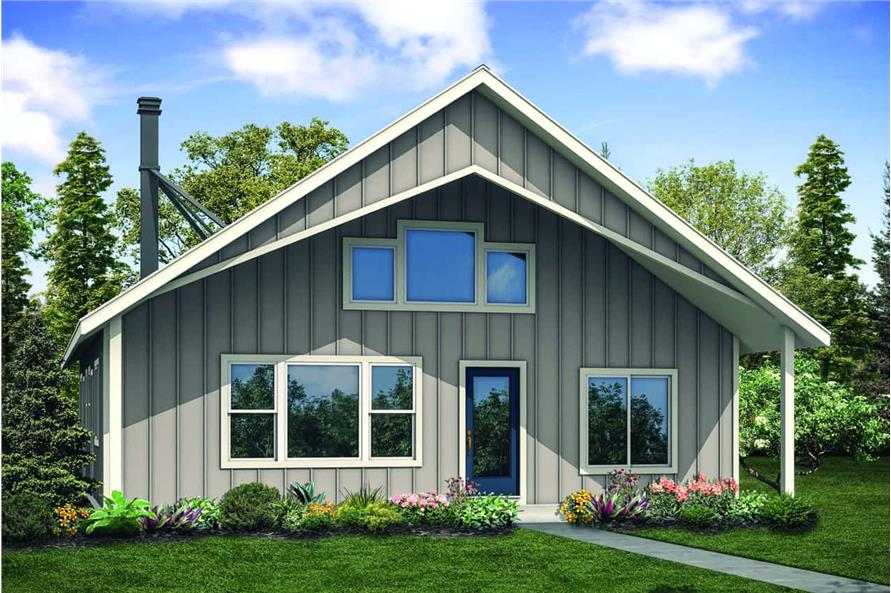 2-Bedroom, 1706 Sq Ft Cottage House - Plan #108-1938 - Front Exterior