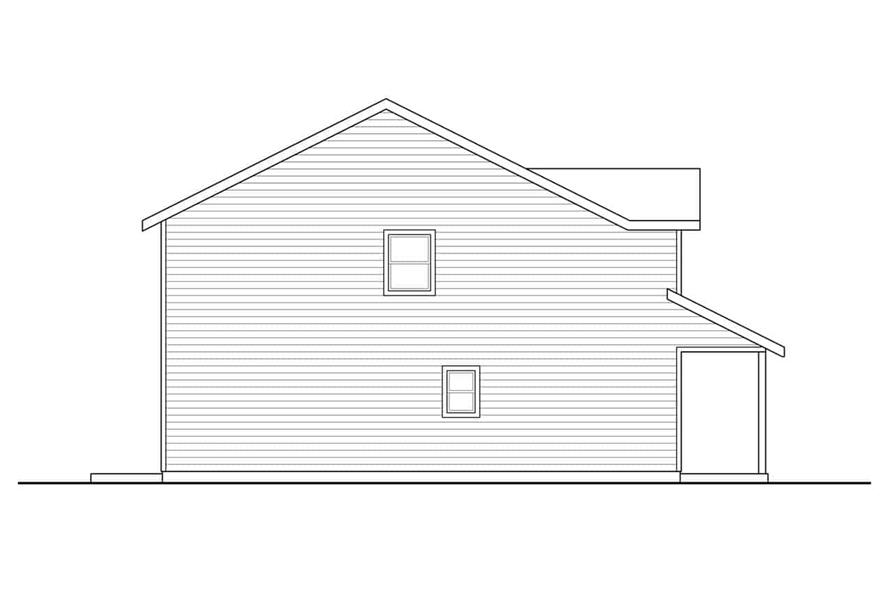 Home Plan Left Elevation of this 3-Bedroom,1628 Sq Ft Plan -108-1939