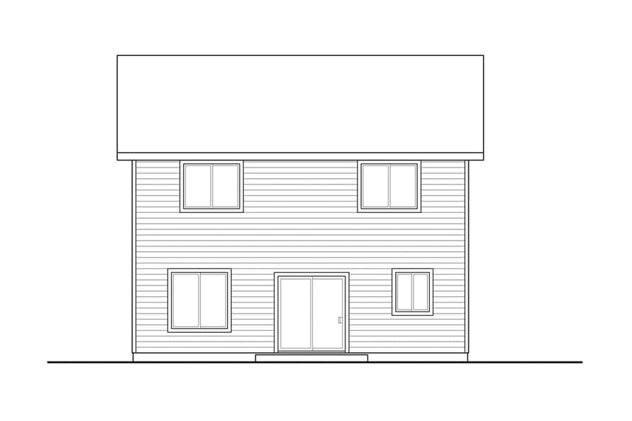 Home Plan Rear Elevation of this 3-Bedroom,1628 Sq Ft Plan -108-1939