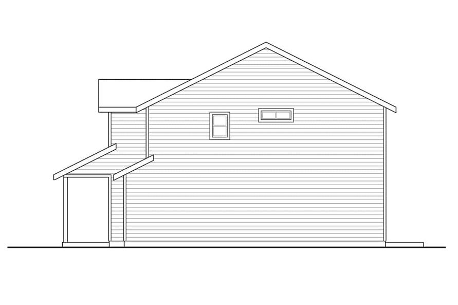 Home Plan Right Elevation of this 3-Bedroom,1628 Sq Ft Plan -108-1939