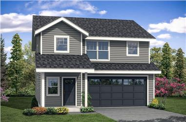 3-Bedroom, 1628 Sq Ft Traditional House - Plan #108-1939 - Front Exterior