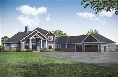 4-Bedroom, 5558 Sq Ft Craftsman Home - Plan #108-1940 - Main Exterior