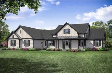 3-Bedroom, 2779 Sq Ft Ranch House - Plan #108-1942 - Front Exterior