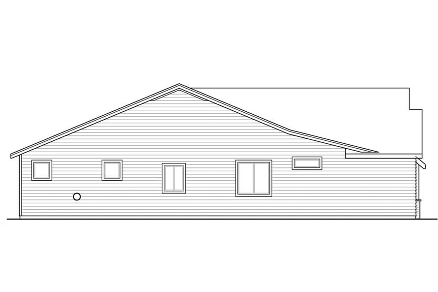 Home Plan Left Elevation of this 3-Bedroom,1848 Sq Ft Plan -108-1944