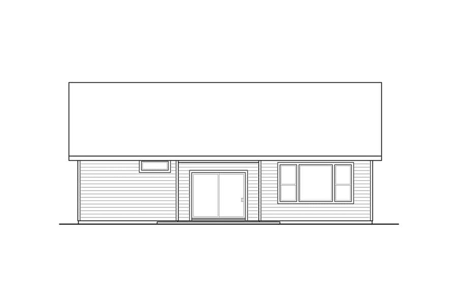 Home Plan Rear Elevation of this 3-Bedroom,1848 Sq Ft Plan -108-1944