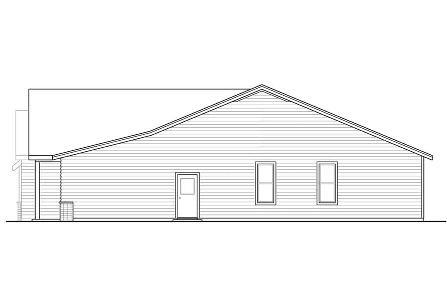 Home Plan Right Elevation of this 3-Bedroom,1848 Sq Ft Plan -108-1944