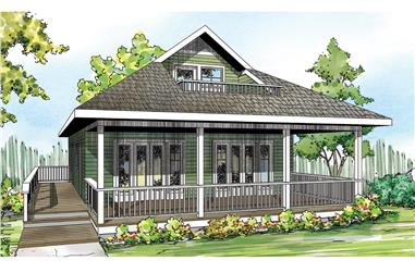 2-Bedroom, 1120 Sq Ft Farmhouse Home - Plan #108-1945 - Main Exterior