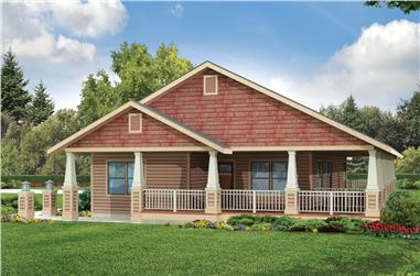 3-Bedroom, 1685 Sq Ft Ranch House Plan - 108-1946 - Front Exterior