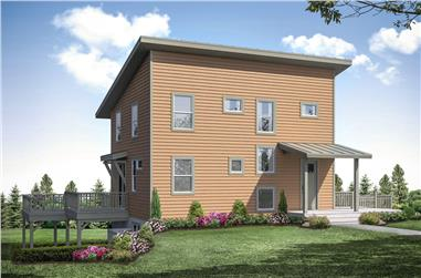 5-Bedroom, 2252 Sq Ft Contemporary Home - Plan #108-1950 - Main Exterior