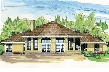 3-Bedroom, 2222 Sq Ft Ranch House - Plan #108-1952 - Front Exterior
