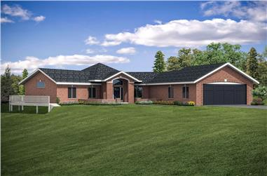 4-Bedroom, 3229 Sq Ft Ranch House - Plan #108-1953 - Front Exterior