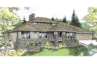 2–4-Bedroom, 2350 Sq Ft Prairie Home Plan - 108-1954 - Main Exterior
