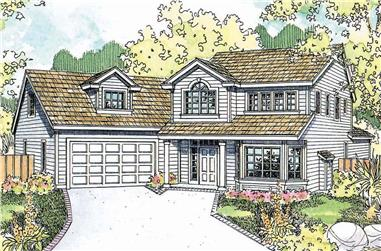 3-Bedroom, 1765 Sq Ft Colonial House - Plan #108-1955 - Front Exterior