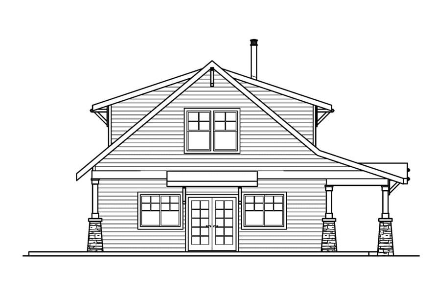 Home Plan Left Elevation of this 2-Bedroom,1822 Sq Ft Plan -108-1956