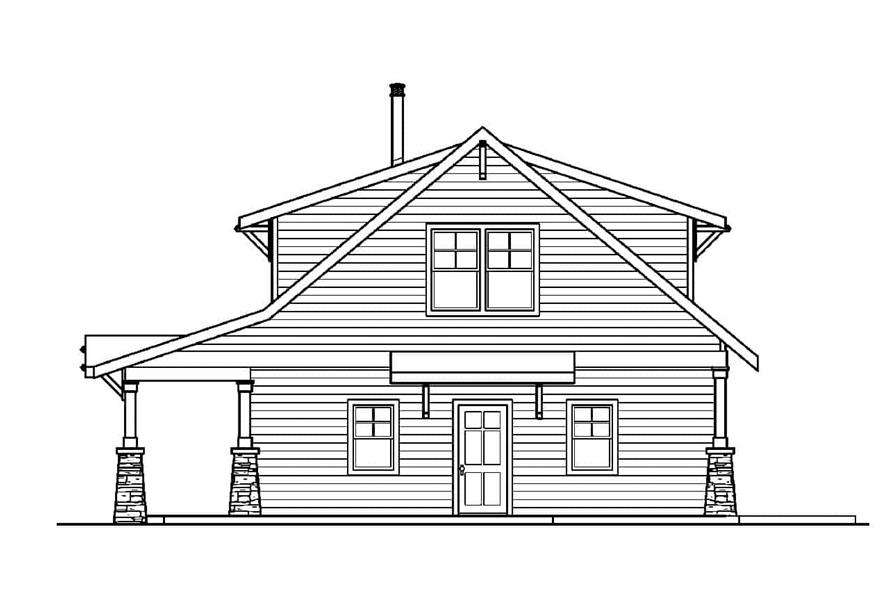 Home Plan Right Elevation of this 2-Bedroom,1822 Sq Ft Plan -108-1956