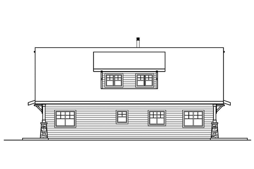 Home Plan Rear Elevation of this 2-Bedroom,1822 Sq Ft Plan -108-1956