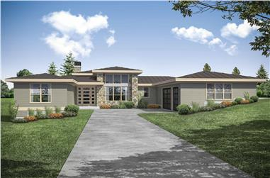 3-Bedroom, 2793 Sq Ft Prairie House - Plan #108-1958 - Front Exterior