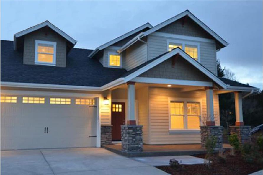 Home at Night of this 4-Bedroom,1716 Sq Ft Plan -1716