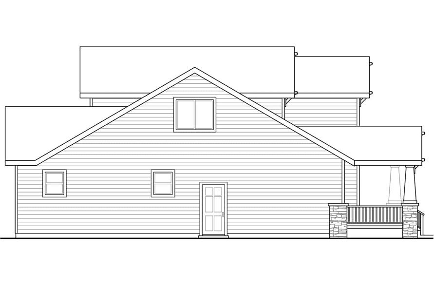 Home Plan Left Elevation of this 4-Bedroom,1716 Sq Ft Plan -108-1960