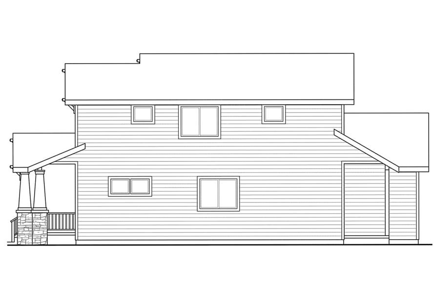 Home Plan Right Elevation of this 4-Bedroom,1716 Sq Ft Plan -108-1960