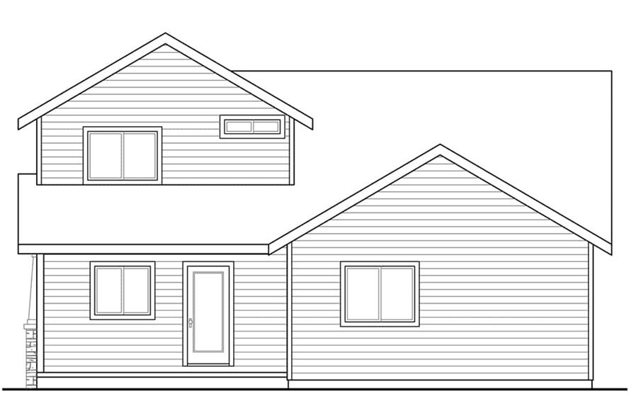 Home Plan Rear Elevation of this 4-Bedroom,1716 Sq Ft Plan -108-1960