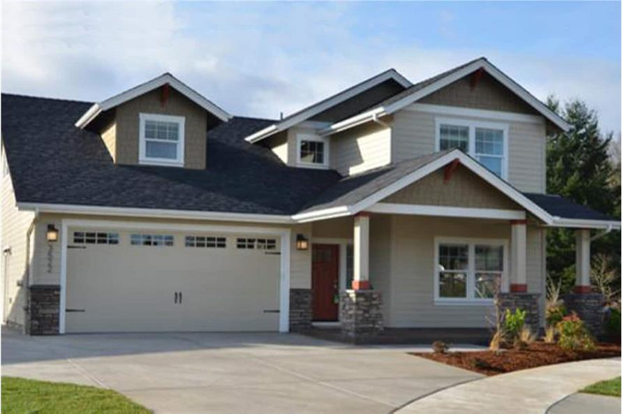4-Bedroom, 1716 Sq Ft Bungalow House Plan - 108-1960 - Front Exterior