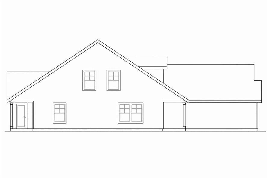 Home Plan Left Elevation of this 3-Bedroom,1213 Sq Ft Plan -108-1962