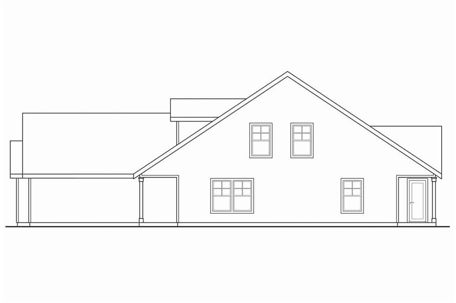 Home Plan Right Elevation of this 3-Bedroom,1213 Sq Ft Plan -108-1962
