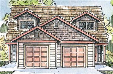 3-Bedroom, 1213 Sq Ft Multi-Unit Home - Plan #108-1962 - Main Exterior