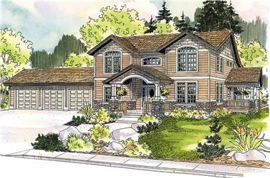 3-Bedroom, 3568 Sq Ft Colonial House - Plan #108-1963 - Front Exterior