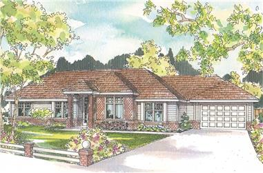 3-Bedroom, 2592 Sq Ft Ranch Home - Plan #108-1966 - Main Exterior