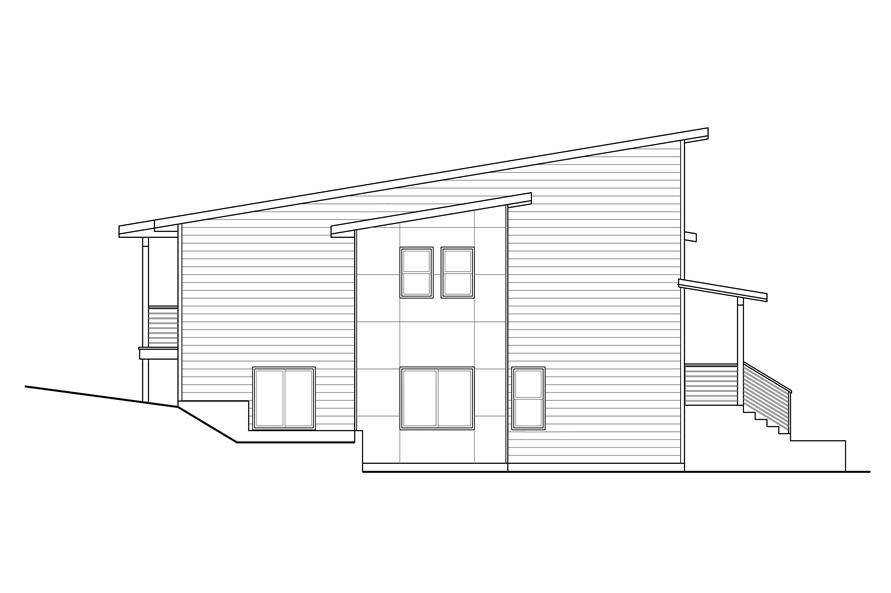 Home Plan Left Elevation of this 3-Bedroom,1880 Sq Ft Plan -108-1969