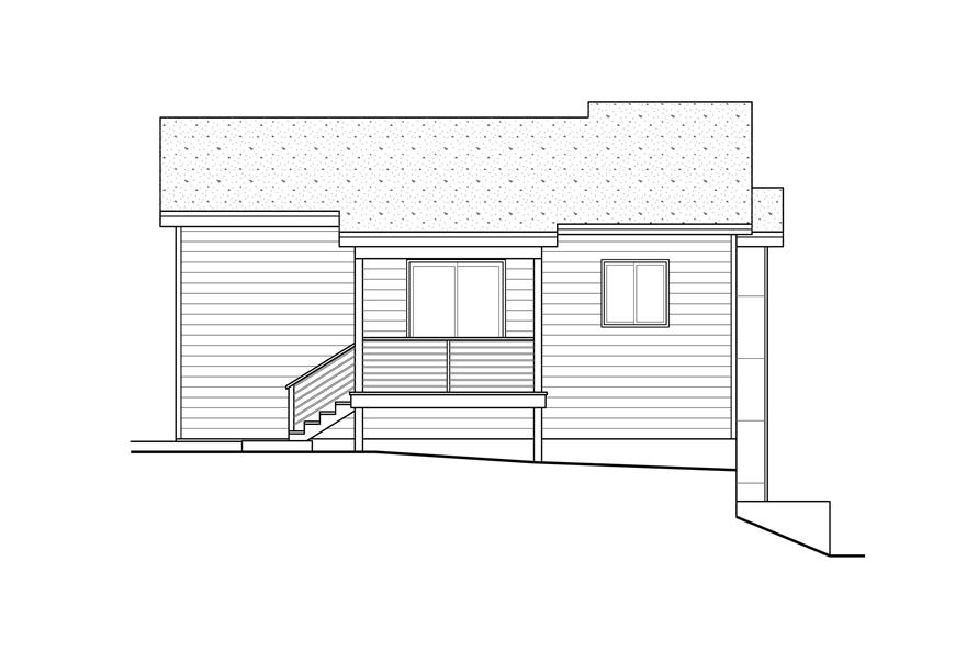 Home Plan Rear Elevation of this 3-Bedroom,1880 Sq Ft Plan -108-1969