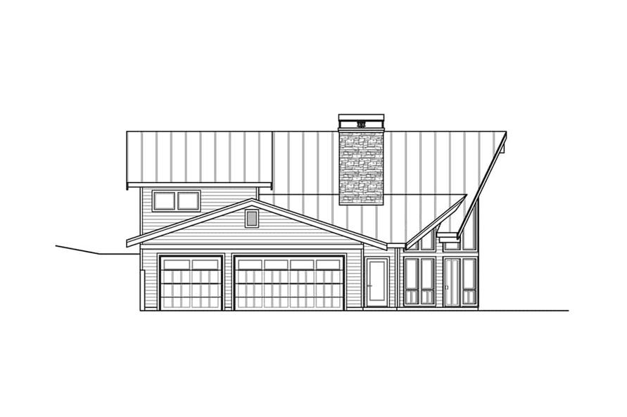 Home Plan Left Elevation of this 2-Bedroom,3120 Sq Ft Plan -108-1972