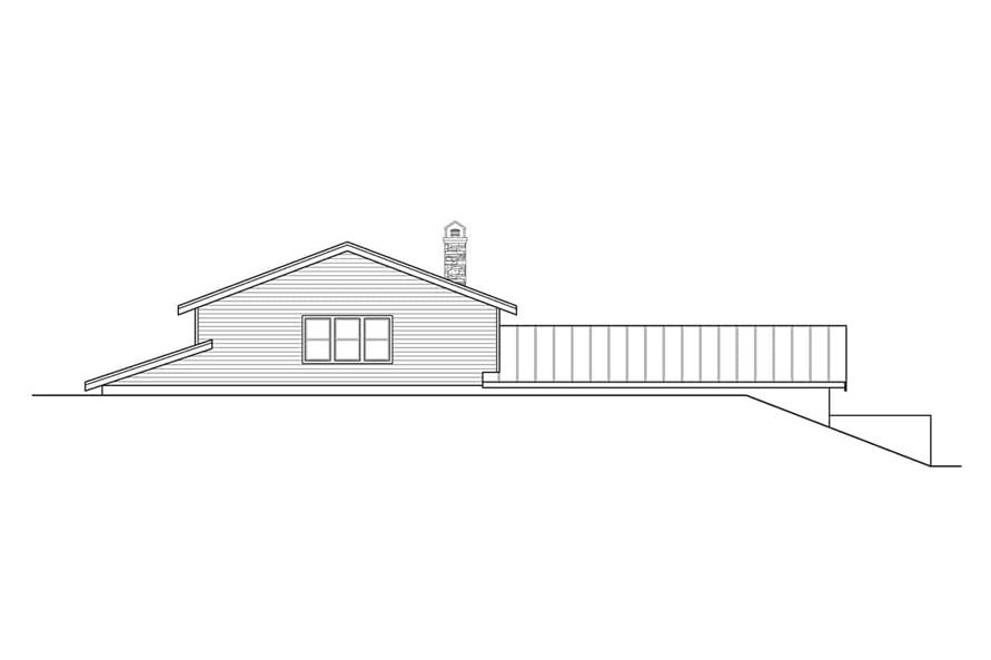 Home Plan Rear Elevation of this 2-Bedroom,3120 Sq Ft Plan -108-1972