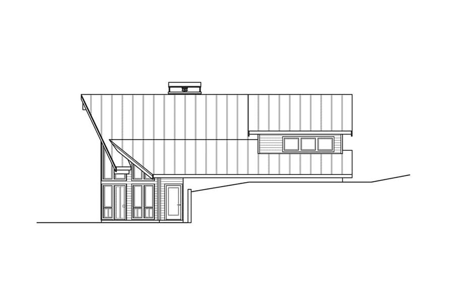 Home Plan Right Elevation of this 2-Bedroom,3120 Sq Ft Plan -108-1972