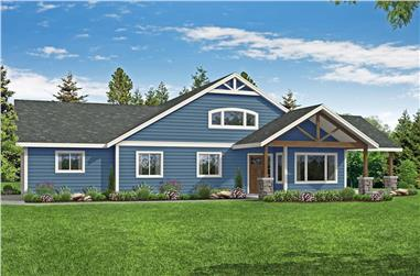 4-Bedroom, 2089 Sq Ft Country Ranch Home - Plan 108-1973 - Main Exterior