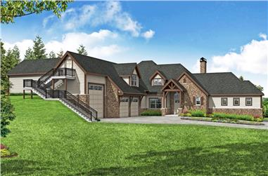 4-Bedroom, 3505 Sq Ft European Country Home - Plan #108-1974 - Main Exterior