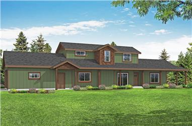 3-Bedroom, 1800 Sq Ft Contemporary Home Plan - 108-1975 - Main Exterior