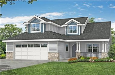 3–4-Bedroom, 2431 Sq Ft Country House - Plan #108-1978 - Front Exterior