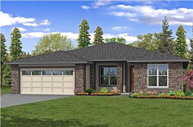 3-Bedroom, 2198 Sq Ft Contemporary House - Plan #108-1980 - Front Exterior