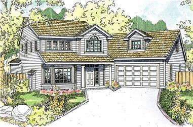 4-Bedroom, 1987 Sq Ft Transitional Home - Plan #108-1982 - Main Exterior